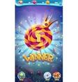 Sweet world mobile GUI game winner window vector image