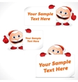 Cartoon Santa Claus with Blank Banner and Sign vector image vector image