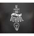 Back to school typographic labels set vector image