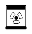 Contour poster with radiation symbol of danger vector image