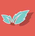 fresh basil leaves icon sticker of basil leaves vector image