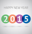 Happy New Year 2015 Colorful Circles Background vector image