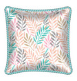 patterned decorative pillow cushion vector image