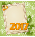 scrapbooking card 2017 vector image
