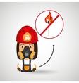 woman fire match vector image