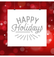 poster for Christmas and New Year holidays vector image