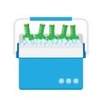 freezer-bag in blue color vector image