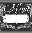 vintage graphic place card menu for bar or vector image