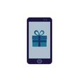 app present on the phone screen vector image
