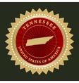 Star label Tennessee vector image vector image