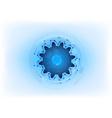 blue cogwheel on the light background vector image vector image