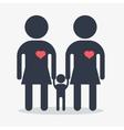 happy gay girl family icon vector image