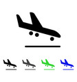 airplane arrival flat icon vector image