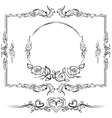 Black and white floral pattern Cartouche for vector image
