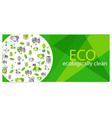 eco eecologically clean poster with equipment vector image