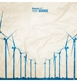 Electrical windmill vector image