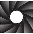 Photo diaphragm open over white vector image