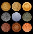set of old blank templates for ancient coins of vector image