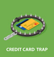 The trap of credit card with their high interest vector image
