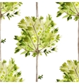 watercolor pattern with olive trees vector image