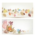 Autumn banners Fall leaves and fruits header set vector image vector image
