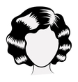 Isolated woman head design vector image