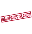 Galapagos Islands rubber stamp vector image