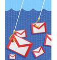 phishing mail vector image