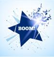 star crash big boom light and debris vector image