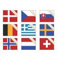 flags with ribbons vector image vector image