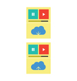 Cloud music download upload vector image vector image