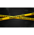 crime scene tape on black vector image