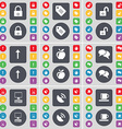 Lock Tag Arrow up Apple Chat Monitor Satellite vector image