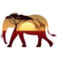 Elephant Landscape vector image vector image