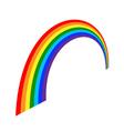 Rainbow icon cartoon 3 vector image vector image