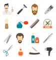 Barber Color Icons vector image