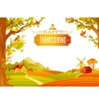 beautiful autumn landscape vector image