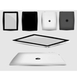 black abstract tablet pc on white vector image