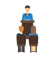 Business conference people vector image