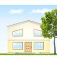 facade with tree vector image