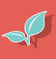 fresh mint leaf sticker menthol healthy aroma vector image