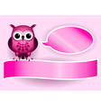 Owl making baby girl announcement vector image