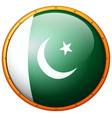 pakistan flag on round frame vector image