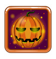 the application icon with halloween pumpkin vector image