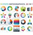 circle infographics set Business diagrams vector image