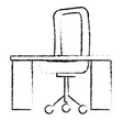 desk and chair office place vector image