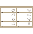 Labels set with weather signs vector image vector image