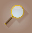 Magnifying Glass flat icon with long shadow vector image vector image