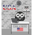 USA Tourist Information vector image