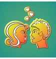 Saint Valentines Day Words Sticker Green vector image
